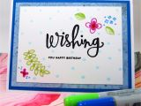 What to Write In A Happy Birthday Card Card Wishing You Happy Birthday Blue On White Wish
