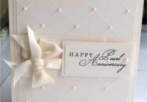 What to Write In An Anniversary Card to Wife Pearl Anniversary Card with Images Wedding Anniversary