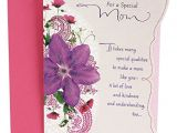What to Write In Your Mom S Birthday Card Hallmark Birthday Greeting Card to Mother Purple Flower