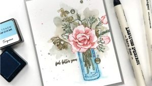 What to Write On A Card Flowers Stamp Focus Breezy Bouquet with Images Handmade Cards