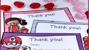 What to Write On A Valentine S Day Card Valentine Thank You Notes Editable with Images Teacher