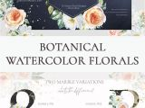 What to Write On Flower Card for New Baby Botanical Watercolor Floral Clipart Spring Watercolor