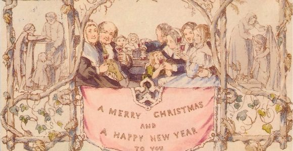 What Was On the First Christmas Card Three Village Historian Digs Into the History Of the