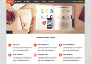 What WordPress Template is This Pytheas Free Responsive Corporate Portfolio WordPress theme