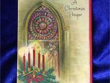 When is the Christmas Card On Hallmark C 1950 Hallmark Christmas Prayer Card Hall Brothers Church