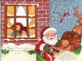 When is the Christmas Card On Hallmark Vintage Hallmark Christmas Card Children Peeking Out the