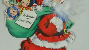 When is the Christmas Card On Hallmark Vintage Hallmark Hall Bros Christmas Card 1945 Santa Claus