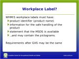 Whmis Workplace Label Template Whmis after Ghs for Employers