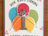Who to Do Greeting Card Happy 1st Birthday Card Geburtstag Karte Luftballons Und