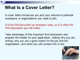Why is A Cover Letter Important Cover Letters and Resume Ppt Video Online Download