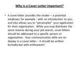 Why is A Cover Letter Important Writing Cover Letters Ppt Video Online Download