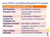 Wida Lesson Plan Template Integrating the Wida Eld Standards and the 2011 Math