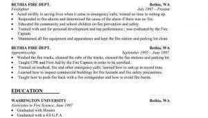 Wildland Firefighter Resume Sample Resume Sample Firefighter Resume Template Http