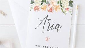 Will You Be My Bridesmaid Diy Card Personalised Will You Be My Bridesmaid Cards Bridesmaid