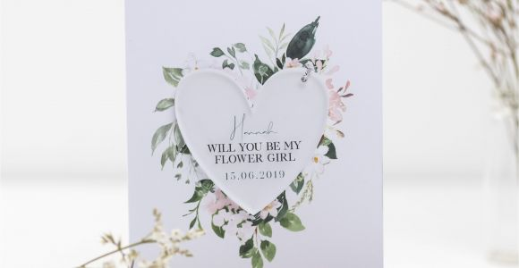 Will You Be Our Flower Girl Card Will You Be My Flower Girl Card with Circle Decoration Be