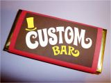 Willy Wonka Candy Bar Wrapper Template Personalized Name Wonka Bar Wrappers Wonka Bar Candy Bar