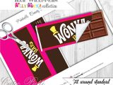 Willy Wonka Candy Bar Wrapper Template Willy Wonka Party Candy Party Printable Chocolate Bar
