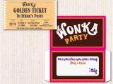Willy Wonka Invitations Templates Willy Wonka Birthday Invite Diy Printable Instant