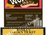 Willy Wonka Invitations Templates Willy Wonka Golden Ticket Invitation Candy Bar Wrapper Set