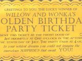 Willy Wonka Invitations Templates Willy Wonka Golden Ticket Invitation