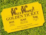 Willy Wonka Invitations Templates Willy Wonka Golden Ticket Party Invitations From