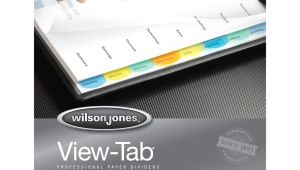 Wilson Jones 8 Tab Template Wilson Jones View Tab Paper Dividers Wlj55965