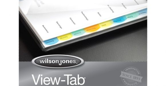 Wilson Jones 8 Tab Template Wilson Jones View Tab Paper Dividers Wlj55965