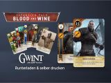 Win A Unique Card From the Baron Selber Basteln Gwint Kartenset Gwent Playing Cards Dlc