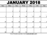 Win Calendar Templates Blank January 2018 Calendar Printable Printable