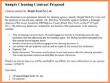 Window Cleaning Contract Template Janitorial Service Agreement Perfect Window Cleaning