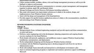 Windows System Engineer Resume Senior Windows Systems Engineer Resume Samples Velvet Jobs