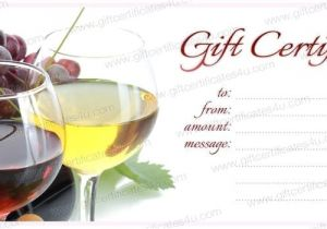 Wine Gift Certificate Template Gift Certificate Templates for Free at Giftcertificates4u