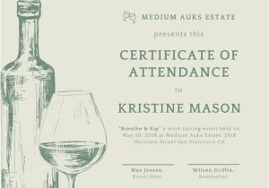 Wine Gift Certificate Template This Certificate Entitles You to Template ats Resume