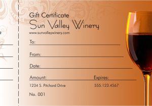 Wine Gift Certificate Template Wine Logo Gift Certificate