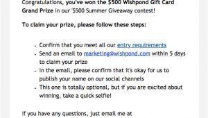 Winners Announcement Email Template 5 Proven Ways to Announce Notify Contest Winners with