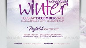 Winter Wonderland Flyer Template Winter Wonderland Christmas Flyer Template by Mrkra