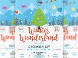 Winter Wonderland Flyer Template Winter Wonderland Flyer Seasonal A5 Template