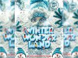 Winter Wonderland Flyer Template Winter Wonderland Seasonal A5 Flyer Poster Template
