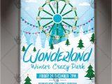 Winter Wonderland Flyer Template Winter Wonderland Seasonal Flyer Psd Template Psdmarket