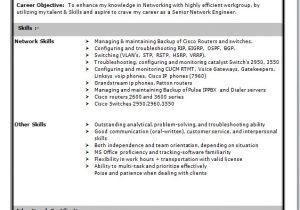 Wireless Network Engineer Resume Network Engineer Resume format