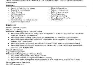 Wireless Network Engineer Resume Wireless Network Engineer Resume Sample Livecareer