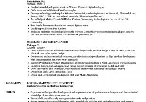 Wireless Network Engineer Resume Wireless Systems Engineer Resume Samples Velvet Jobs