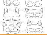Woodland Animal Mask Templates Woodland forest Animals Coloring Masks Woodland Animal Mask