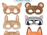 Woodland Animal Mask Templates Woodland forest Animals Printable Masks Woodland Animal