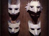 Woodland Animal Masks Template Woodland Animal Mask Set