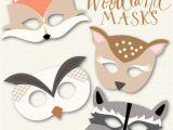 Woodland Animal Masks Template Woodland Animal Masks My Blog Posts Pinterest