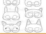 Woodland Animal Masks Template Woodland forest Animals Coloring Masks Woodland Animal Mask