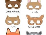 Woodland Animal Masks Template Woodland forest Animals Printable Masks Woodland Animal