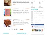 Word Press Blog Templates WordPress Blog theme Psd Template Graphicsfuel