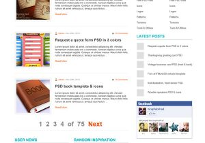 Word Press Blog Templates WordPress Blog theme Psd Template Graphicsfuel